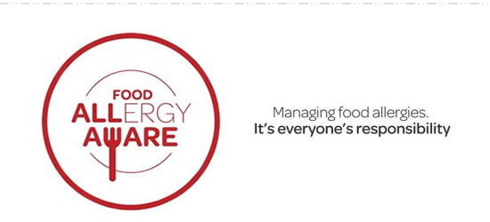 Food allergy management in food service project