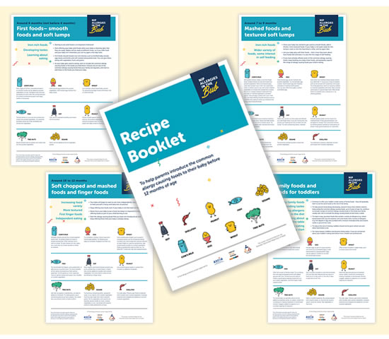 Nip Allergies in the Bub Recipe Booklet and Information Sheets