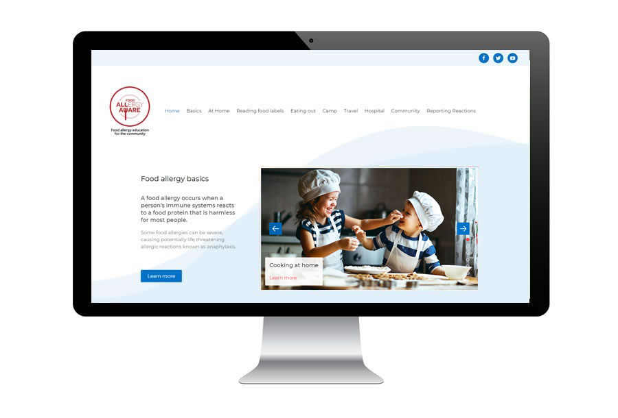 Food Allergy Education website