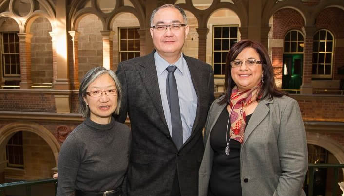 Steering Committee from left to right – Melanie Wong, Richard Loh, Maria Said